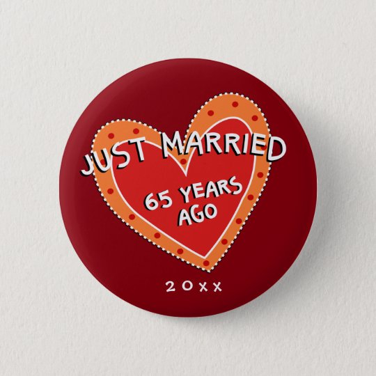 Funny and Romantic 65th Anniversary 6 Cm Round