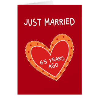 Funny and Romantic-65th Anniversary Greeting Card