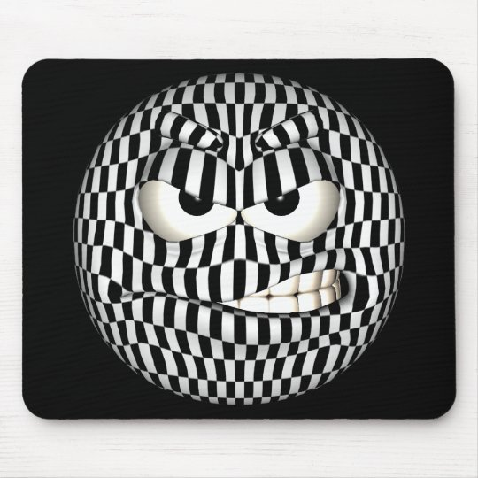 Funny Angered Emoticon Smiley Mouse Mat
