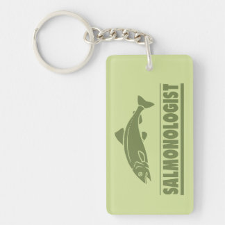 Funny Angler's Salmon Fishing Key Ring
