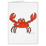 funny angry crabby red crab card