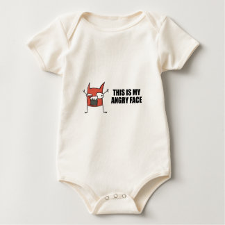 Funny angry face baby bodysuit