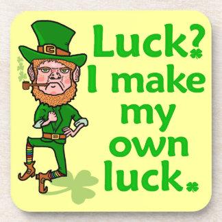 Funny Angry Lucky Irish Leprechaun Coaster