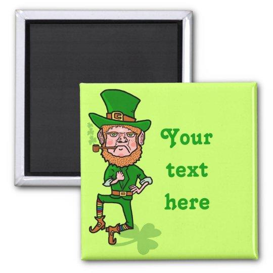 Funny Angry Lucky Irish Leprechaun Magnet