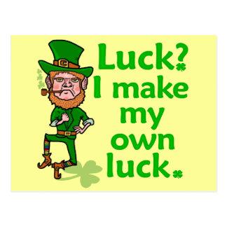 Funny Angry Lucky Irish Leprechaun Postcard