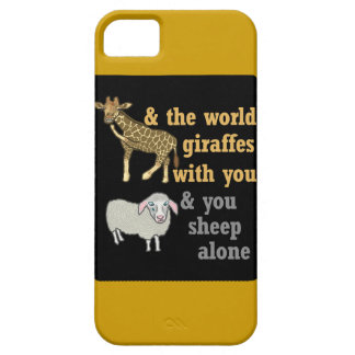 Funny Animal Pun, Giraffe and Sheep iPhone 5 Covers