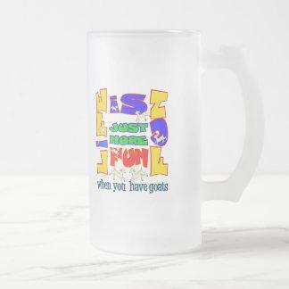 Funny Animal Saying  Goat Humor Frosted Glass Mug
