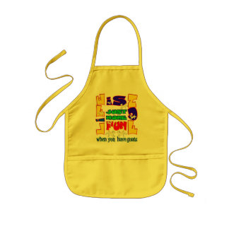 Funny Animal Saying  Goat Humor Kids Apron