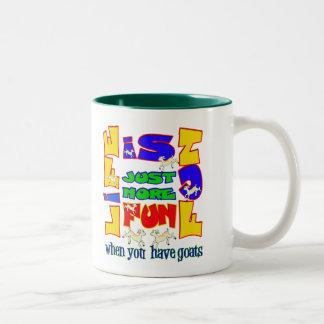 Funny Animal Saying  Goat Humor Two-Tone Mug