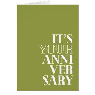 "Funny Anniversary, ""Congratulations?"" | Serif type Card"