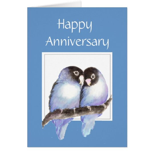 Funny Anniversary Love birds Card
