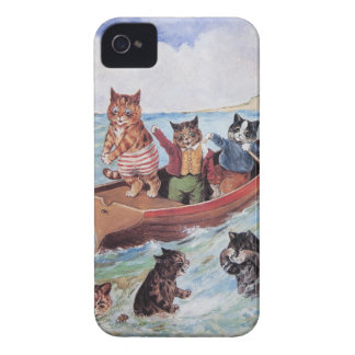 Funny Anthropomorphic Cats Vintage Wain iPhone 4 Covers