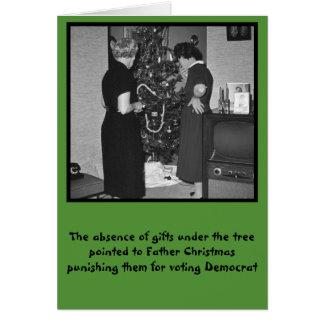 Funny anti Democrats Christmas Greeting Card