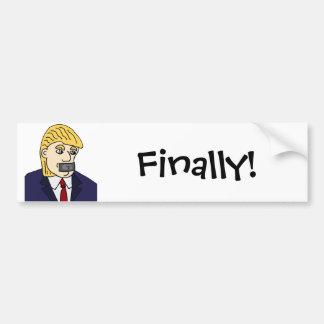 Funny Anti Donald Trump Political Cartoon Bumper Sticker