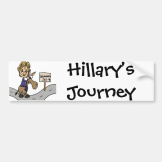 Funny Anti Hillary Political Cartoon Bumper Sticker