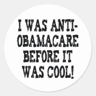 Funny Anti-Obamacare Classic Round Sticker