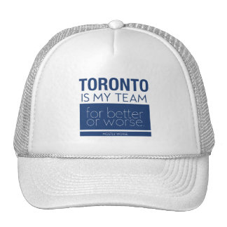 Funny Anti Toronto Sports Hat for Jaded Fans