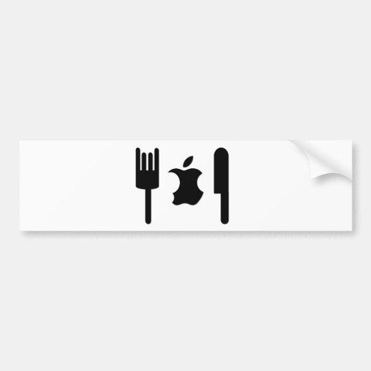 Funny Apple Bumper Sticker
