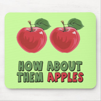 Funny Apples T-shirts and Gifts For Her Mouse Pad