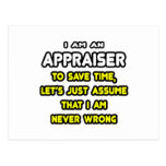 Funny Appraiser T-Shirts and Gifts Post Cards