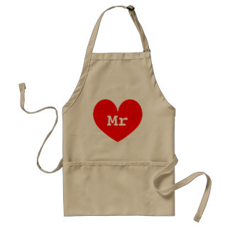 Funny aprons for men and women Mr and Mrs
