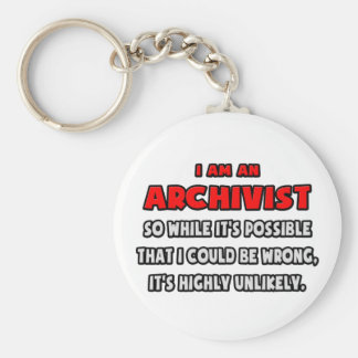 Funny Archivist .. Highly Unlikely Key Ring