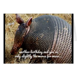 funny armadillo birthday card humor