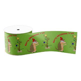 Funny Armadillo Christmas Grosgrain Ribbon