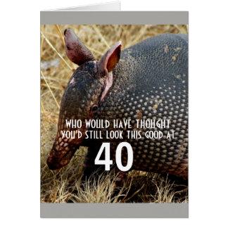 funny armadillo custom  birthday card humor
