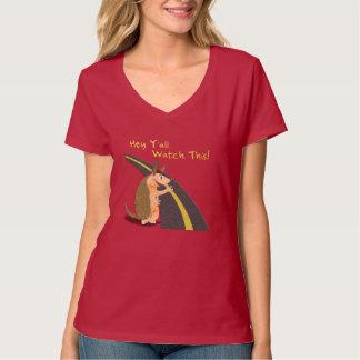 Funny Armadillo Ladies T-shirt