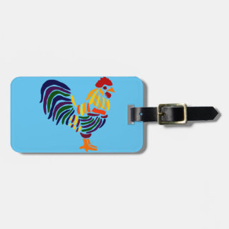 Funny Artistic Rooster Luggage Tag