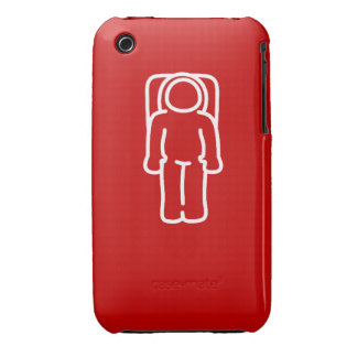 Funny Astronaut Red Case1 iPhone 3 Case