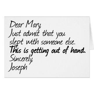 Funny atheist design greeting card