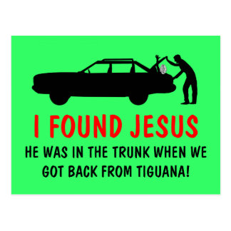 Funny atheist I found Jesus Post Cards