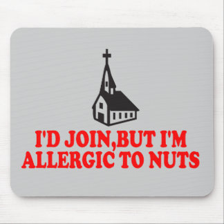 Funny atheist mouse mat