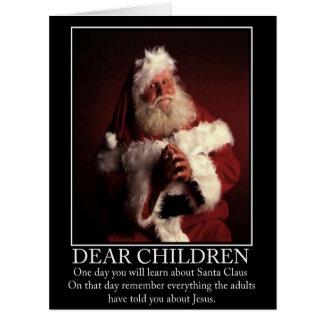 Funny atheist Santa Big Greeting Card