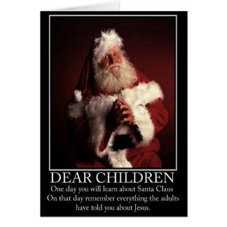 Funny atheist Santa Greeting Card