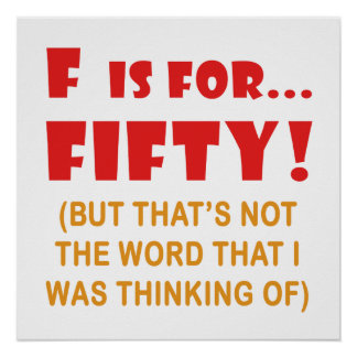 Funny Attitude 50th Birthday Gag Gifts Poster