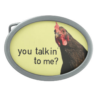 Funny Attitude Chicken Belt Buckle