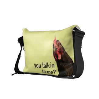 Funny Attitude Chicken Courier Bag