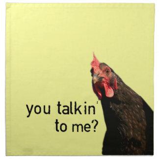 Funny Attitude Chicken Napkin