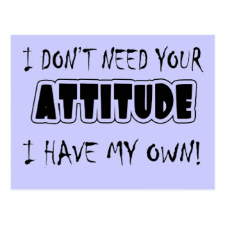 Funny Attitude T-shirts Gifts Postcard