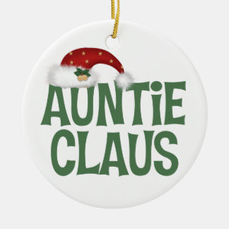 Funny Auntie Claus Christmas Ornament