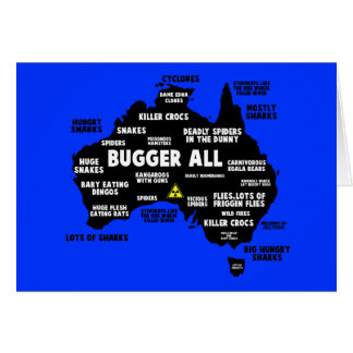 Funny Aussie map Greeting Card