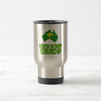 Funny Australian slang Travel Mug