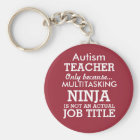 Funny Autism Special Needs Teacher Key Ring