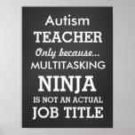 Funny Autism Special Needs Teacher Poster