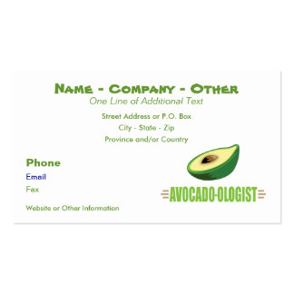Funny Avocado Lover Pack Of Standard Business Cards