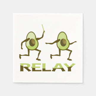 Funny Avocado Relay Race Paper Napkins