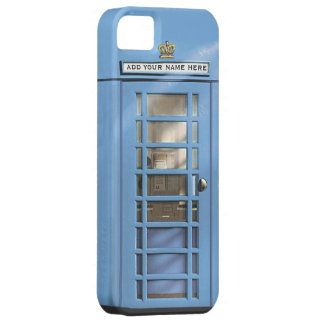 Funny Baby Blue British Phone Box Personalised
